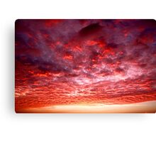 fiery sky at sunset Canvas Print