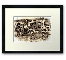 A vision of years gone by Framed Print