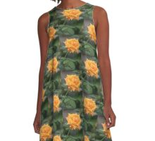 Yellow Rose With Tint of Peach A-Line Dress