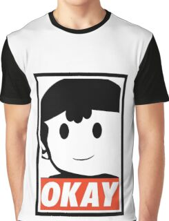 "Ness OKAY (""OBEY"") Graphic T-Shirt"