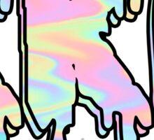 Kappa Kappa Gamma (KKG) Trippy Cute 2D Sticker