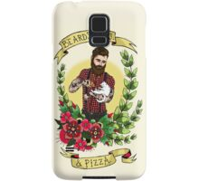 Beards, Cats, and Pizza Samsung Galaxy Case/Skin