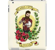 Beards, Cats, and Pizza iPad Case/Skin