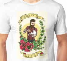 Beards, Cats, and Pizza Unisex T-Shirt