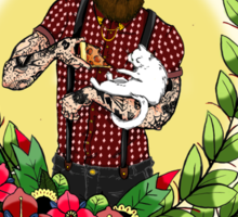 Beards, Cats, and Pizza Sticker