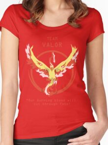 Team Valor Slogan T Women's Fitted Scoop T-Shirt