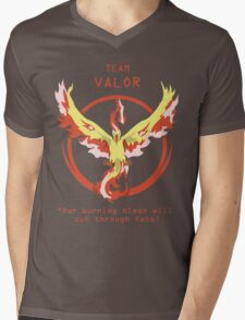 Team Valor Slogan T Mens V-Neck T-Shirt