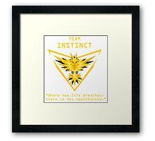 Team Instinct Slogan T Framed Print