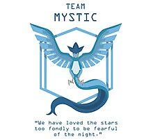 Team Mystic Slogan T Photographic Print