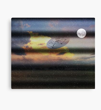 What is Reality?  Fun UFO image. Canvas Print