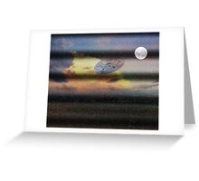 What is Reality?  Fun UFO image. Greeting Card