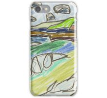 """Drawing: """"Coal Coast X (2015) (Wombarra)"""" by artcollect iPhone Case/Skin"""