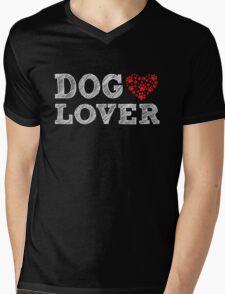 Dog Lover - Proud K9 Animal Lover Heart Paws T Shirt Mens V-Neck T-Shirt