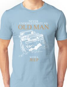 Never Underestimate An Old Man Jeep T-shirts Unisex T-Shirt