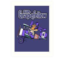 Sir Grapefellow Pop Art Purple Background Art Print
