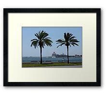 Palma de Mallorca harbor Framed Print