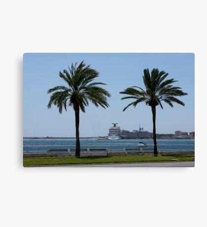 Palma de Mallorca harbor Canvas Print
