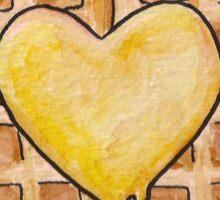 Waffle Heart Sticker