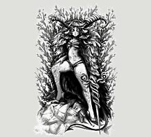 HORNS N HEELS (BLACK & WHITE) Unisex T-Shirt
