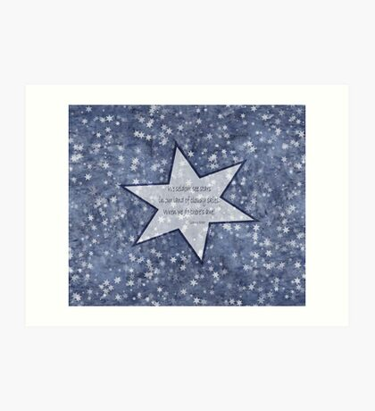 star haiku Art Print