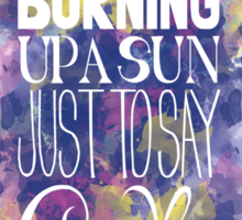 Burning Up A Sun Just To Say Goodbye Sticker