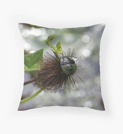 Green Stink Bug Throw Pillow