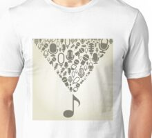 Microphone from the note Unisex T-Shirt