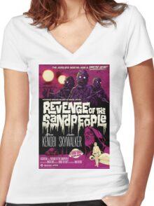 Revenge of the Sandpeople Women's Fitted V-Neck T-Shirt