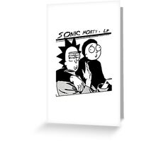 Sonic Morty Greeting Card