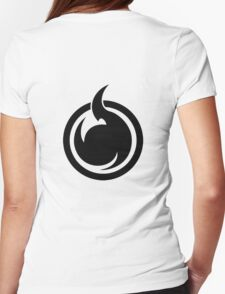Fire Logo Naruto Womens Fitted T-Shirt