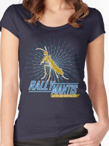 Rally Mantis Burst! Women's Fitted Scoop T-Shirt