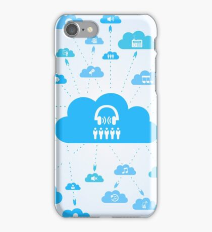 Music a cloud iPhone Case/Skin