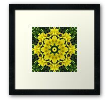 Golden crown of flowers Framed Print