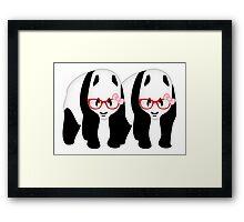 Lesbian Pandas Framed Print