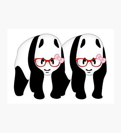 Lesbian Pandas Photographic Print