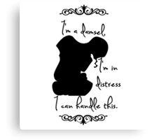 Disney Princesses: Megara (Hercules) *Black version* Canvas Print