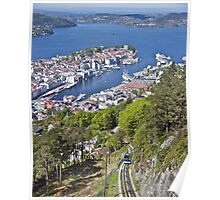 Bergen - Looking Down  Poster