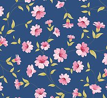 Flower samless pattern for your design by Kotkoa