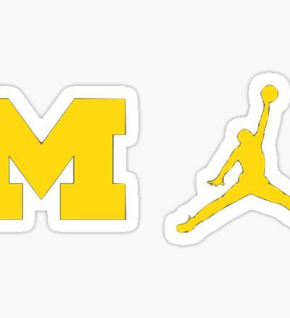 Michigan Jumpman Sticker