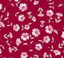 Flower samless pattern for your design by Kotkoa