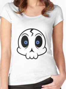 Skull Cute Women's Fitted Scoop T-Shirt
