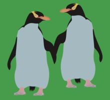 Blue Penguins Holding hands Kids Clothes