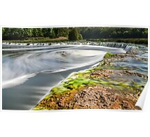 Widest waterfall in Latvia Poster