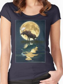 Moose Moon Women's Fitted Scoop T-Shirt