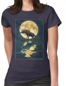 Moose Moon Womens Fitted T-Shirt