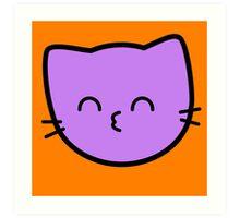 Kawaii Kitty Cats 2048 - tile 64 Art Print