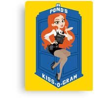 Pond's Kiss-O-Gram Canvas Print