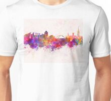 Coventry skyline in watercolor background Unisex T-Shirt