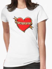 My Heart Belongs to Sasquatch Womens Fitted T-Shirt