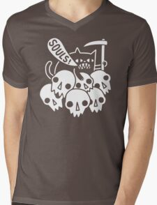 Cat Got Your Soul funny Mens V-Neck T-Shirt
